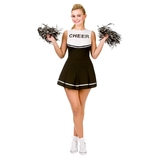 High School Cheerleader (black)