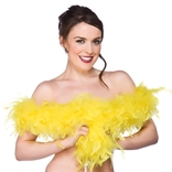 Feather Boa - Yellow