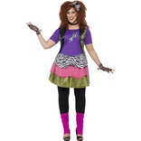 Curves 80s Rock Chick Costume