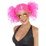 Pink 80's Bunches Wig