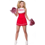 High School Cheerleader (red)