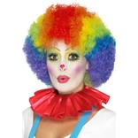 Red Clown Neck Ruffle