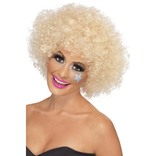 70's Blonde Funky Afro Wig