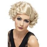 Blonde 20's Flirty Flapper Wig