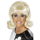 Blonde 60's Flick-up Wig