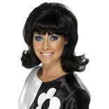 Black 60's Flick-up Wig
