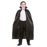 Black Deluxe Children's Satin Cape