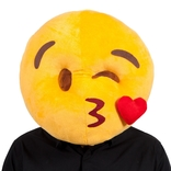 Kissing Face Emoji Mask