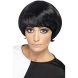 Black 60's Psychedelic Wig