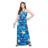 Hawaii Maxi Dress - Blue Palm
