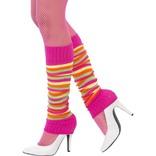 Pink Multi Stripe Legwarmers