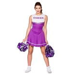 High School Cheerleader (purple)