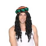 Deluxe Knitted Rasta Hat & Wig