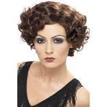 Brown 20's Flirty Flapper Wig