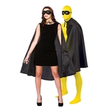 Super Hero Cape & Mask - Black