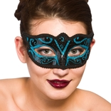 Verona Eye Mask - Blue Glitter