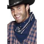 Cowboy Bandana, Blue, Western Design
