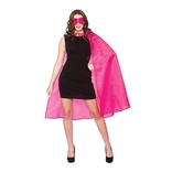 Super Hero Cape & Mask - Hot Pink