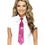 Pink Sequin Tie
