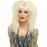 Blonde 80's Trademark Crimp Wig